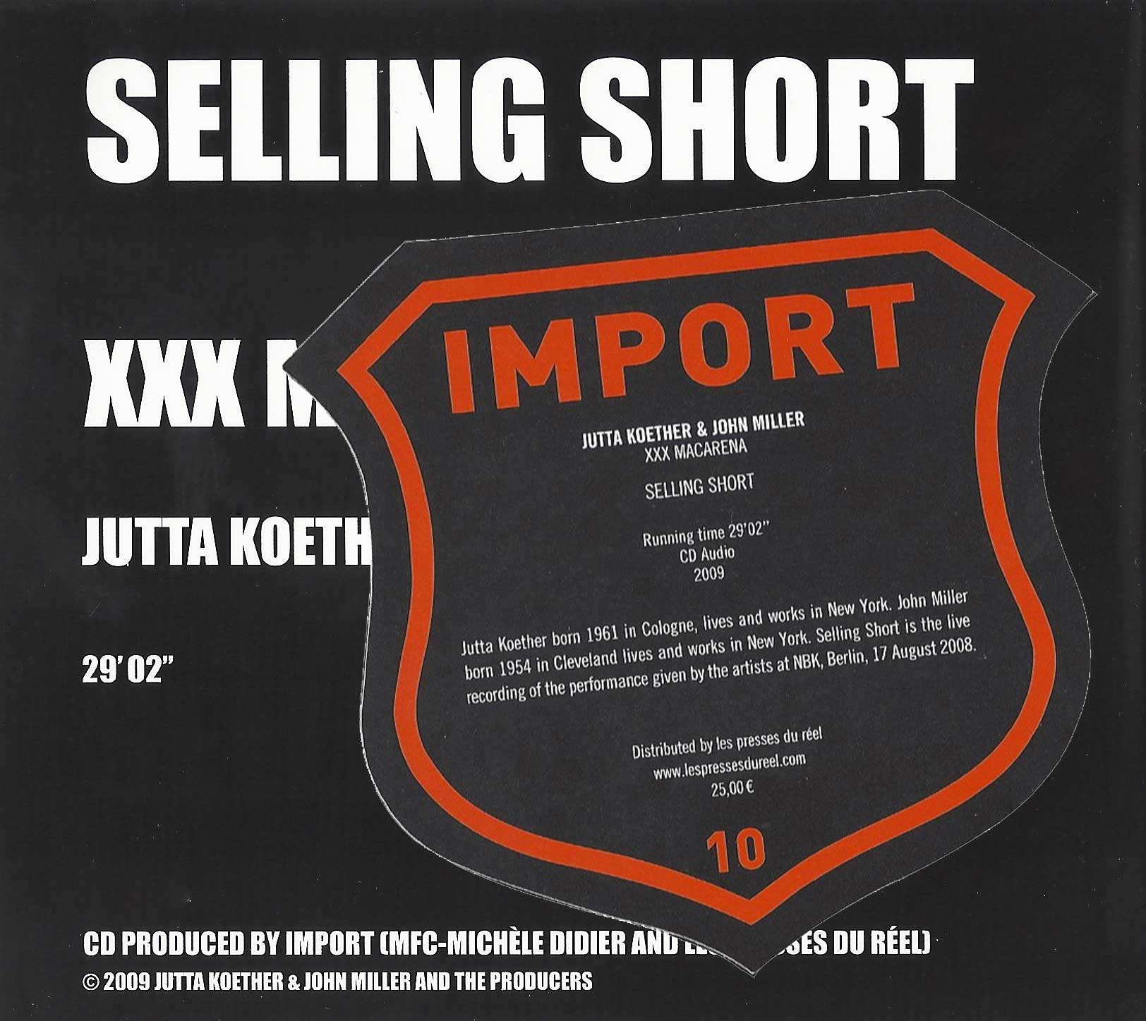Jutta Koether & John Miller - Selling Short, 2009