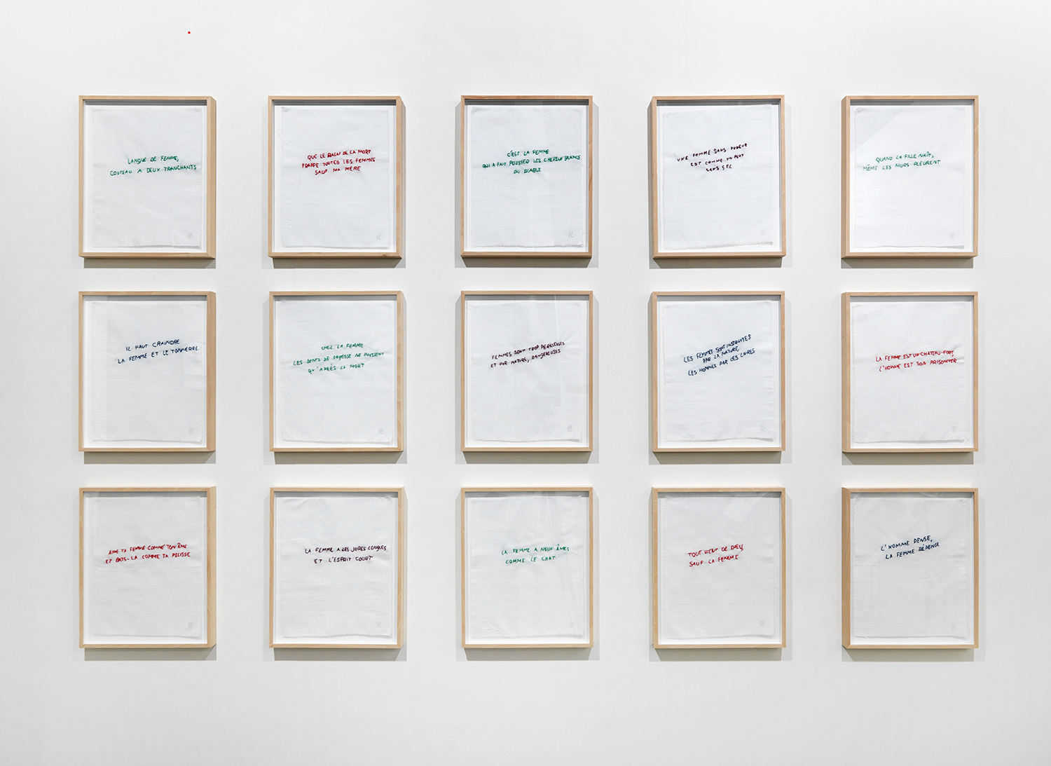 Annette Messager - Ma collection de proverbes, 1974/2012