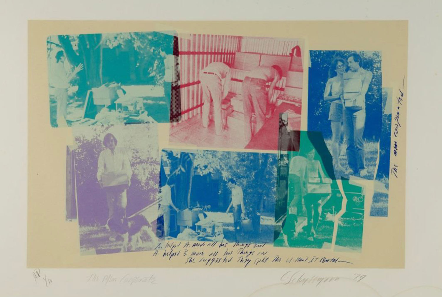 Carolee  Schneemann - The Men Cooperate, 1979