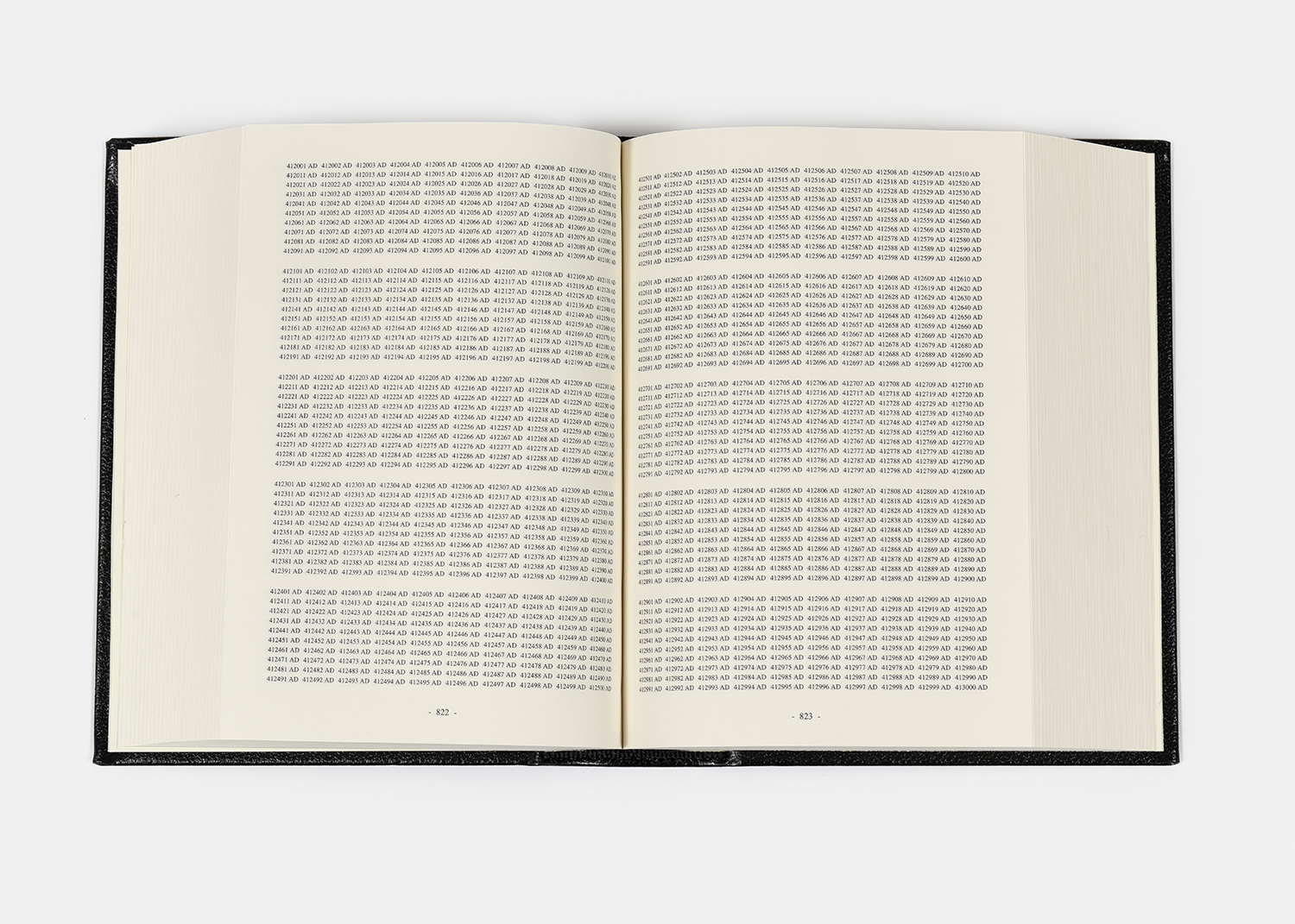 On Kawara - One Million Years, 1999 -